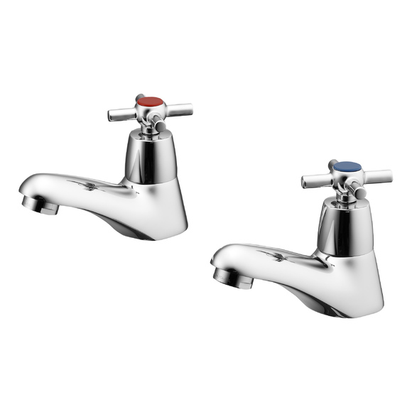 Ideal Standard | Elements | B9858AA | Pillar Taps  Basin Tap