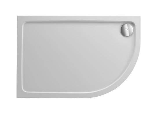 Just Trays Fusion F976LQ100 900 x 760mm Offset Quadrant Shower Tray