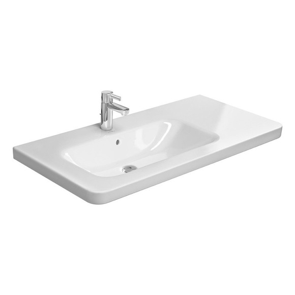 Duravit Durastyle 2325800000 800x480 1 Tap Hole Left Hand Wall Mounted Basin