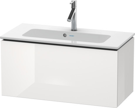 Duravit L-Cube LC615702222 820x400 Wall Mounted Vanity Unit White High Gloss
