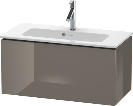Duravit L-Cube LC615708989 820x400 Wall Mounted Vanity Unit Flannel Grey High Gloss