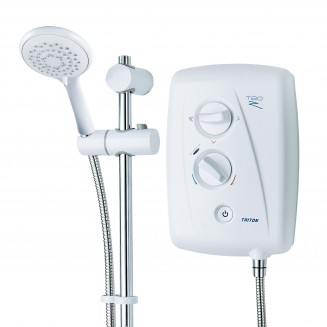Triton | T80Z | Fast Fit | Electric shower | white body | white rail
