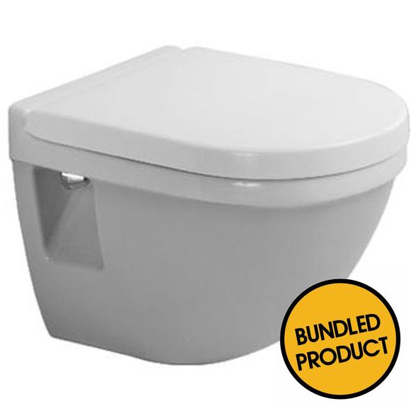 Duravit Starck 3 Invisible Fixed Compact Wall Hung Toilet - QKIT00013