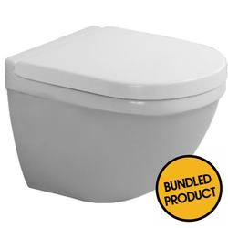 Duravit Starck 3 Invisible Fixed Compact Wall Hung Toilet - QKIT00012