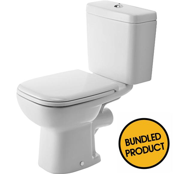 Duravit D-Code Horizontal Outlet Close Coupled Toilet - QKIT00002