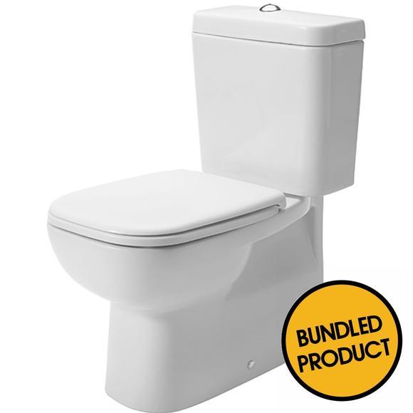 Duravit D-Code Close Horizontal Outlet Coupled Toilet - QKIT00007