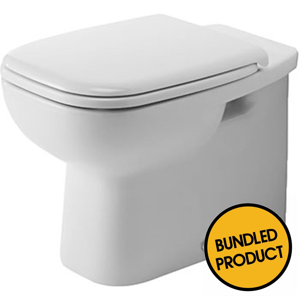 Duravit D-Code Floor Standing Back to Wall Toilet - QKIT00017