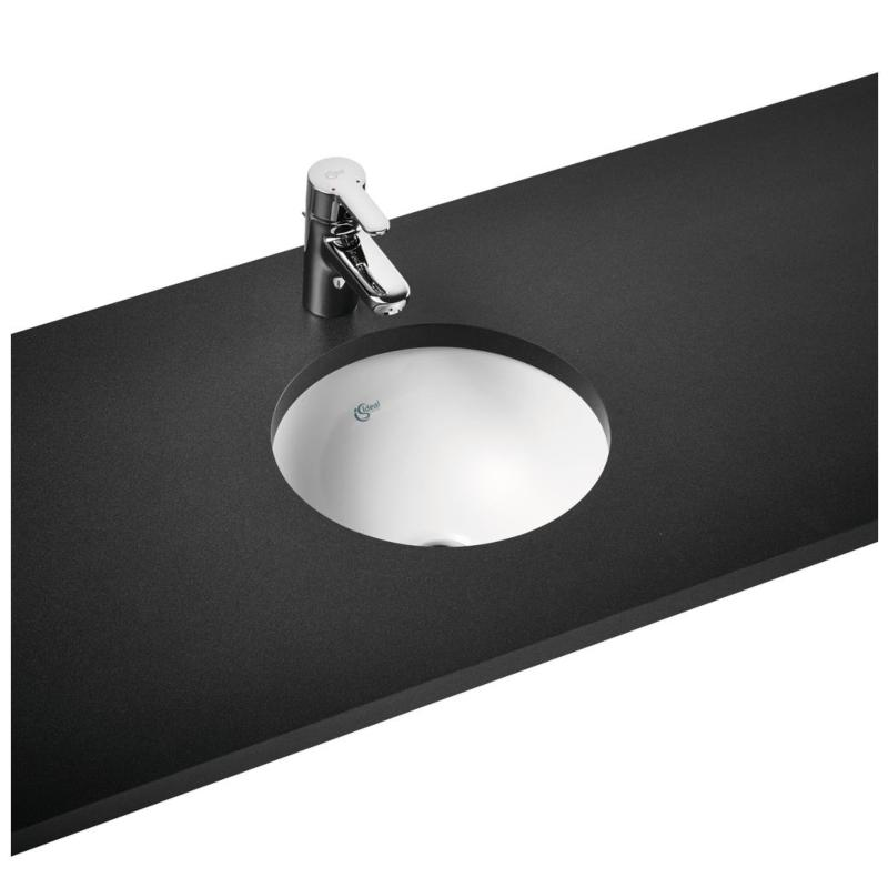 Ideal Standard Concept Sphere E502401 380mm Under Counter Basin With Overflow White