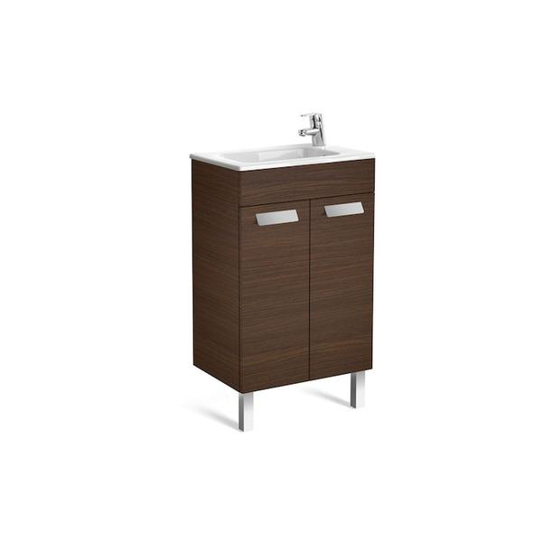Roca Debba A855900154 500mm Compact Basin Unit and Basin Pack Textured Wenge