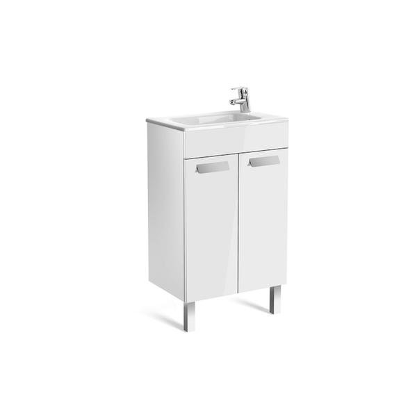 Roca Debba A855900806 500mm Compact Basin Unit and Basin Pack Gloss White