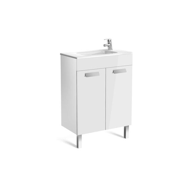 Roca Debba A855901806 600mm Compact Basin Unit and Basin Pack Gloss White