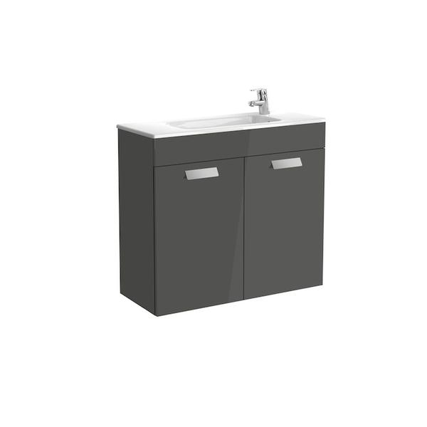 Roca Debba A855903153 800mm Compact Basin Unit and Basin Pack Anthracite Grey