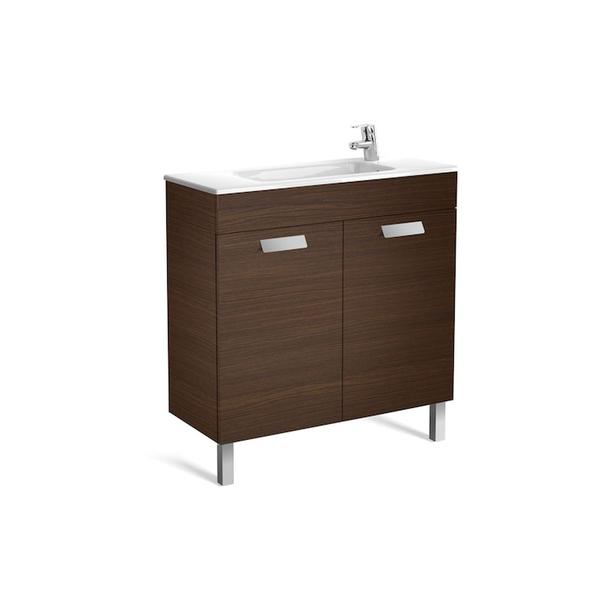 Roca Debba A855903154 800mm Compact Basin Unit and Basin Pack Textured Wenge