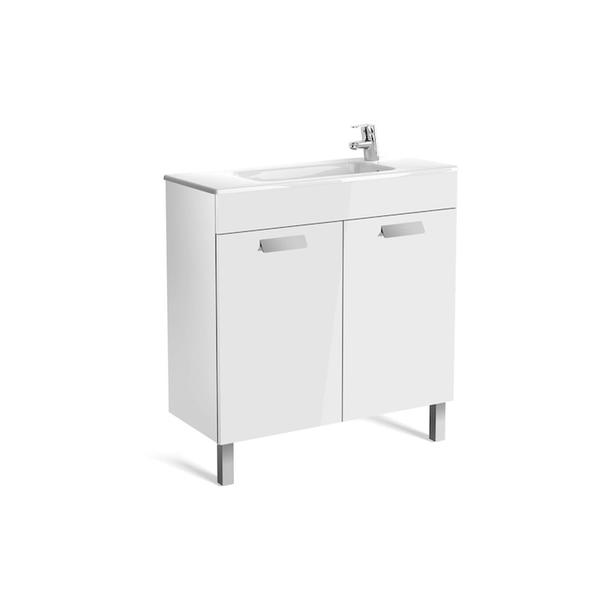 Roca Debba A855903806 800mm Compact Basin Unit and Basin Pack Gloss White