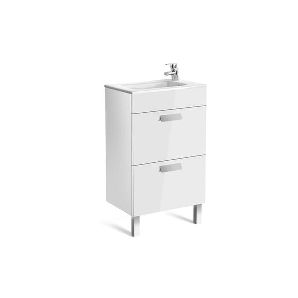 Roca Debba A855904806 500mm Compact Basin Unit and Basin Pack Gloss White
