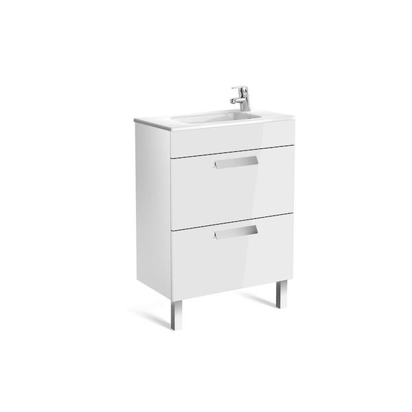 Roca Debba A855905806 600mm Compact Basin Unit and Basin Pack Gloss White