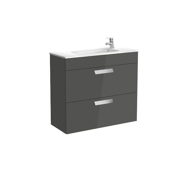 Roca Debba A855907153 800mm Compact Basin Unit and Basin Pack Anthracite Grey