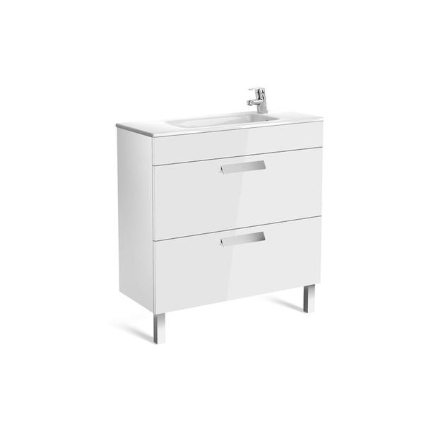 Roca Debba A855907806 800mm Compact Basin Unit and Basin Pack Gloss White