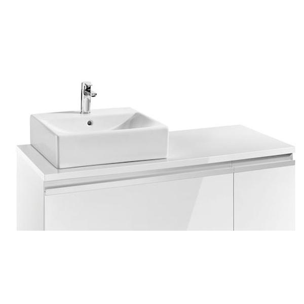 Roca Heima 856923806 1100mm Left Hand Worktop Gloss White