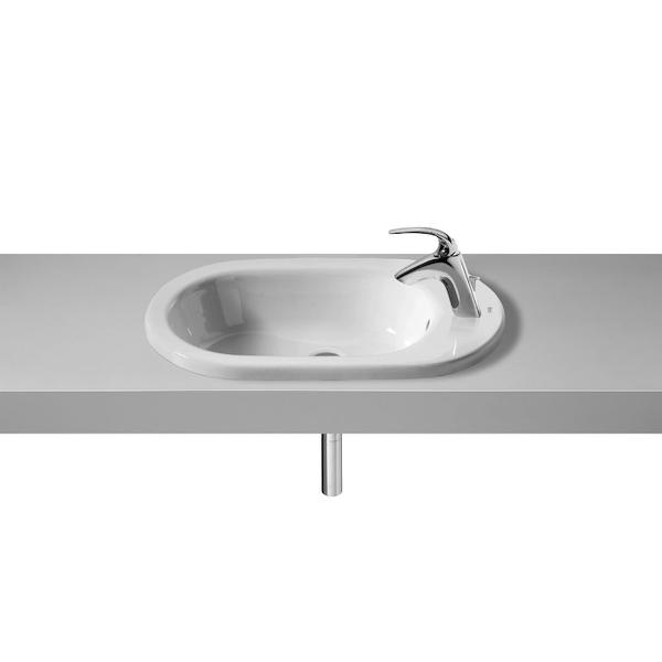 Roca Meridian-N A32724E000 600mm 1 Right Hand Tap Hole Countertop Basin