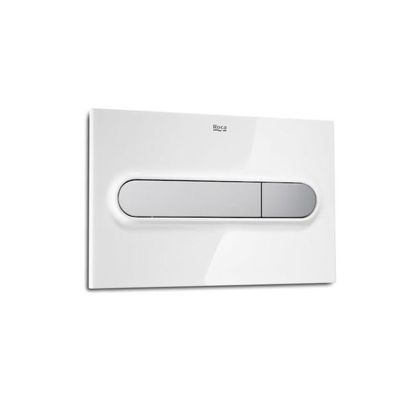 Roca PL1 A890095005 Dual Flush Operating Plate White & Grey Lacquer