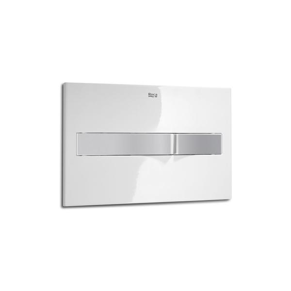 Roca PL2 A890096005 Dual Flush Operating Plate White & Grey Lacquer