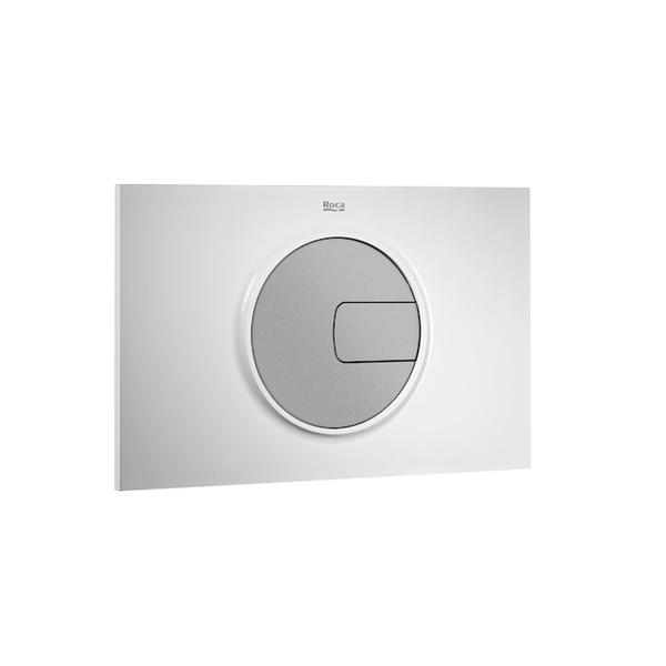 Roca PL4 A890098005 Dual Flush Operating Plate White & Grey Lacquer