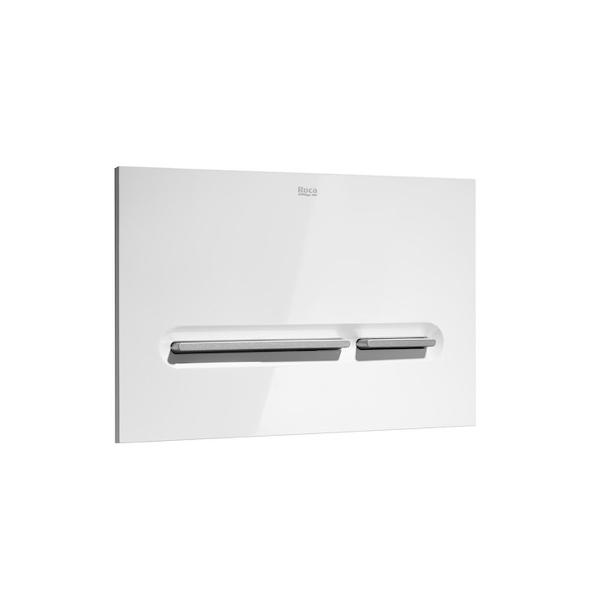 Roca PL5 A890099005 Dual Flush Operating Plate White & Grey Lacquer