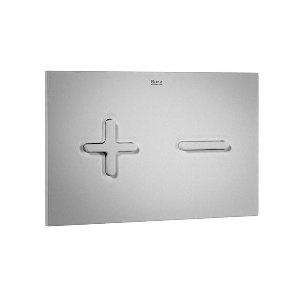 Roca PL6 A890085002 Dual Flush Operating Plate Grey Lacquer