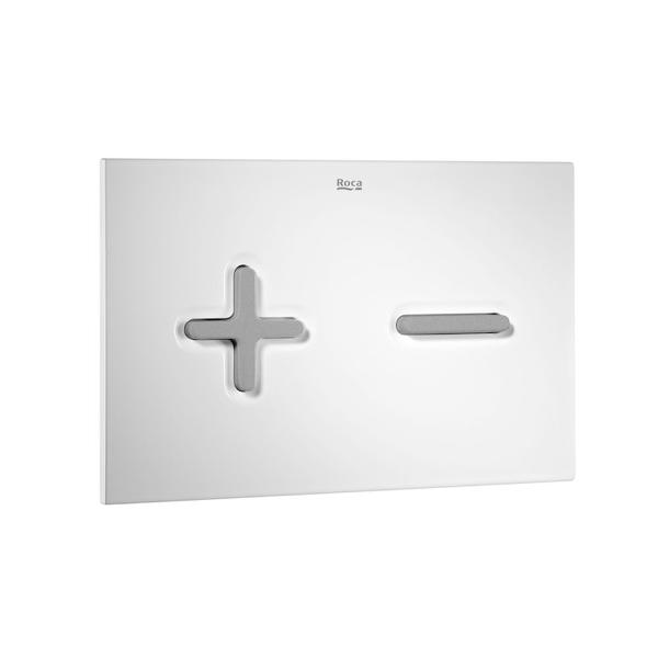 Roca PL6 A890085005 Dual Flush Operating Plate White & Grey Lacquer