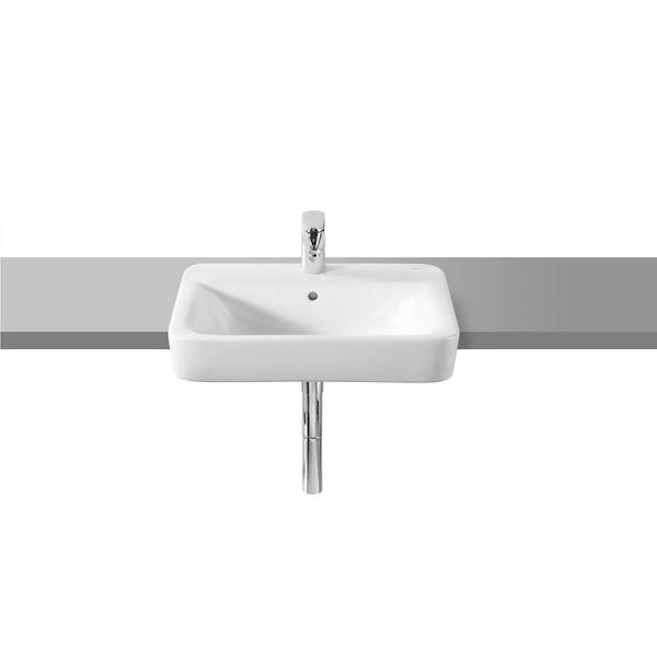 Roca Senso Square A32751S000 560mm 1 Tap Hole Semi Countertop Basin