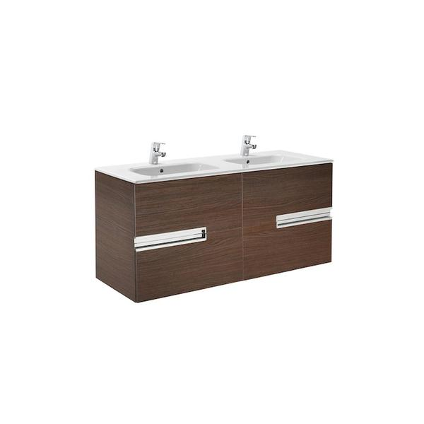 Roca Victoria-N A855830154 1200mm Basin Unit and Basin Pack Textured Wenge