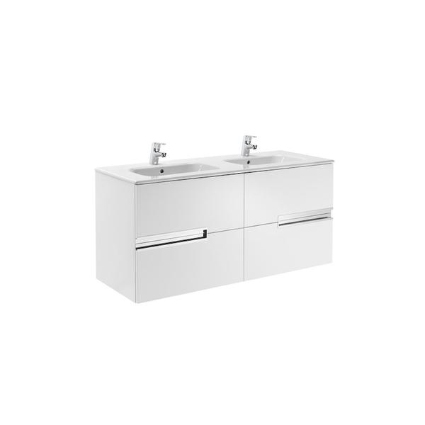 Roca Victoria-N A855830806 1200mm Basin Unit and Basin Pack Gloss White