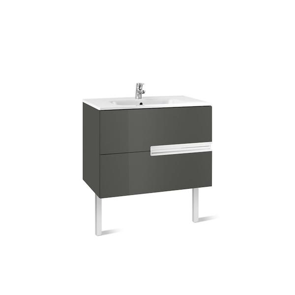 Roca Victoria-N A855831153 1000mm Basin Unit and Basin Pack Gloss Anthracite Grey