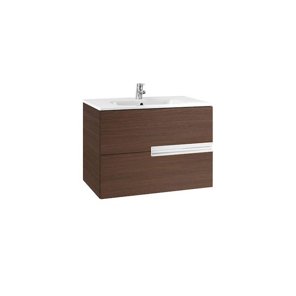 Roca Victoria-N A855832154 800mm Basin Unit and Basin Pack Textured Wenge