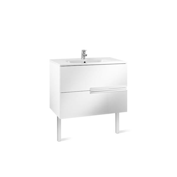 Roca Victoria-N A855832806 800mm Basin Unit and Basin Pack Gloss White