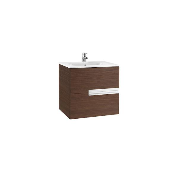 Roca Victoria-N A855833154 700mm Basin Unit and Basin Pack Textured Wenge