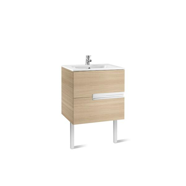 Roca Victoria-N A855833155 700mm Basin Unit and Basin Pack Textured Oak