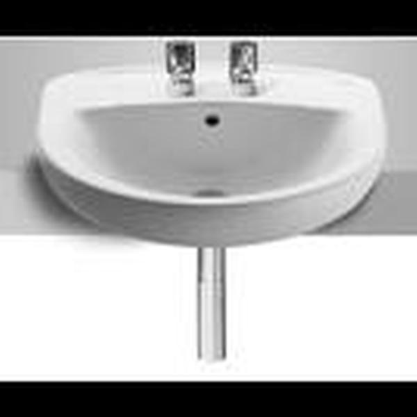 Roca Laura A32739F000 510mm 2 Tap Hole Semi Countertop Basin