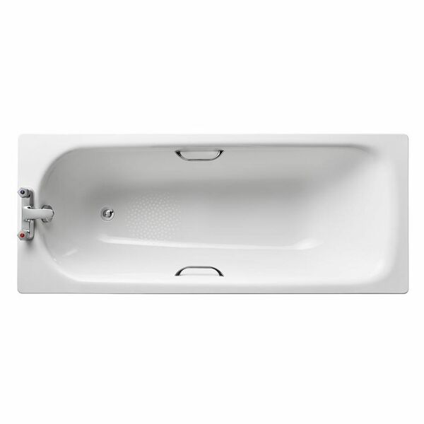 Armitage Shanks Sandringham 21 S183501 1700 x 700 2 Tap Hole Twin Grip Anti Slip Steel Bath