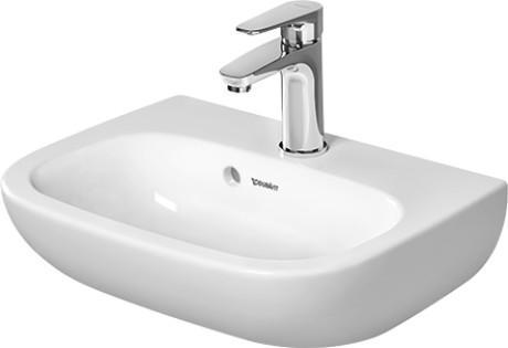 Duravit D-Code 070545 1 Tap Hole 450 x 340mm Cloakroom Basin