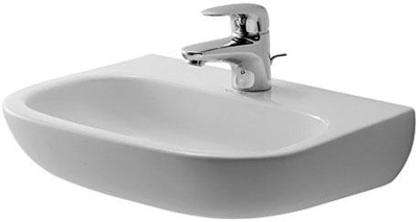 Duravit D-Code 070745 1 Tap Hole 450 x 340mm Cloakroom Basin