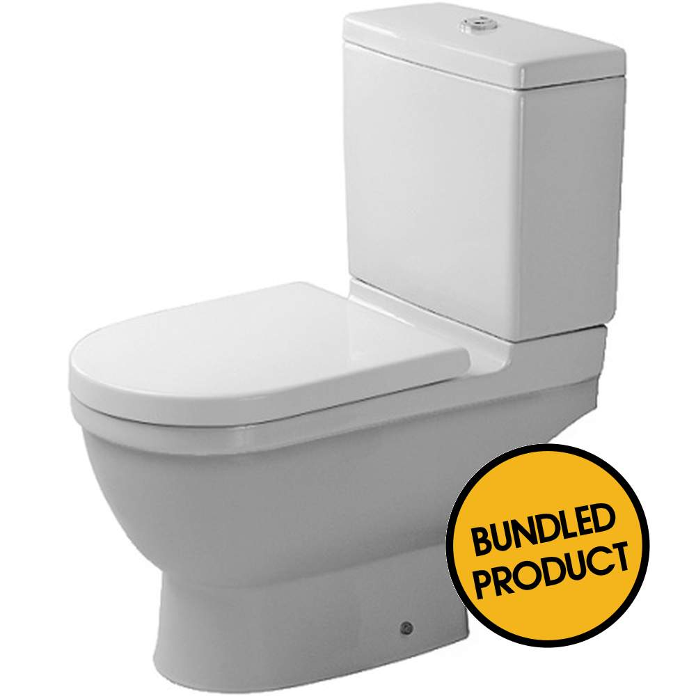 Duravit Starck 3 Close Coupled Toilet White - QKIT00029