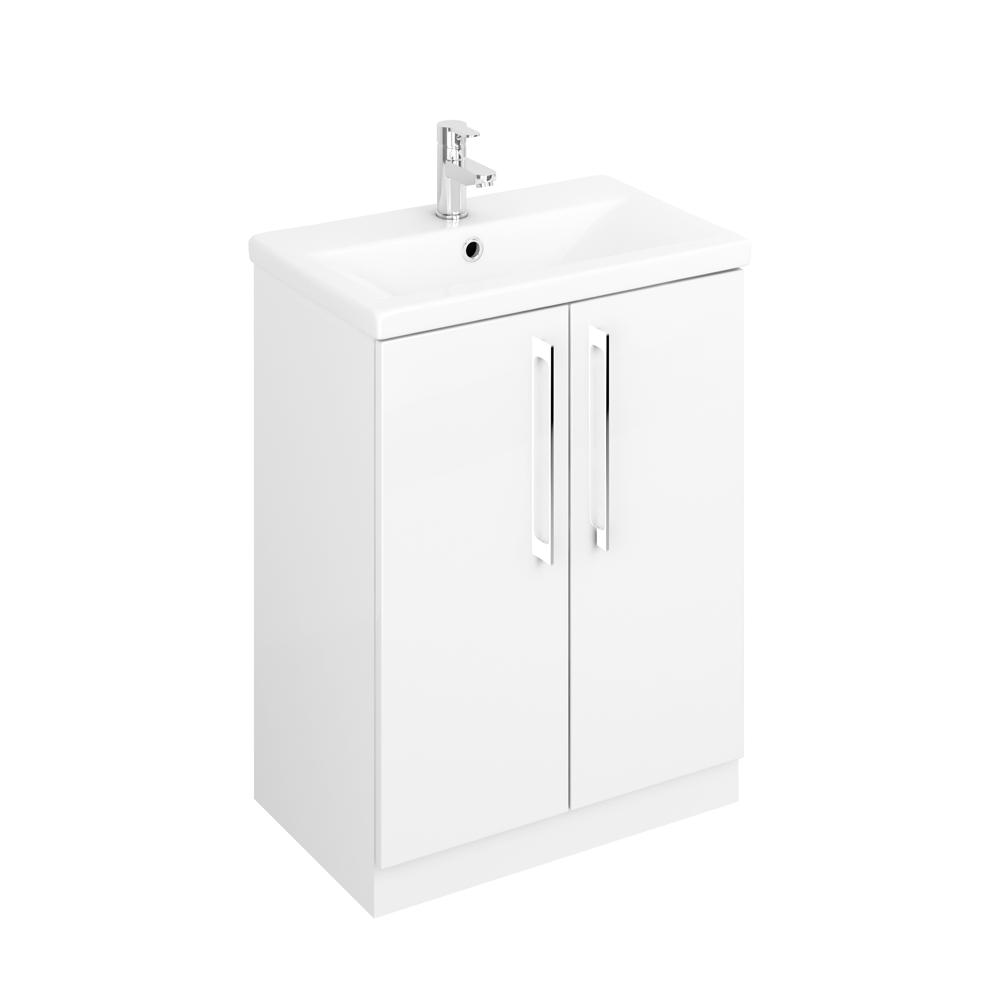 Lecico Linton LIVUGW Floorstanding Unit & Basin Gloss White