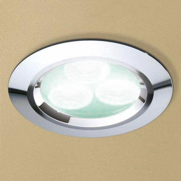 HIB 5750 77mm Cool White LED Showerlight Chrome