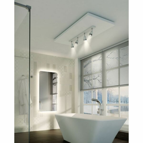 HIB Ambience 79300000 600 x 1200mm Rectangular Steam Free Colour Changing LED Lit Mirror