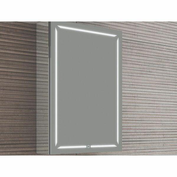 HIB Groove 48400 700 x 500mm LED Bluetooth Mirrored Cabinet