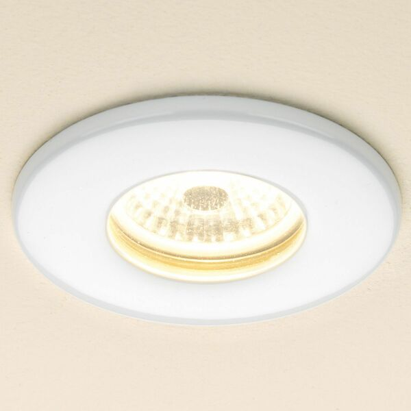 HIB Infuse 5920 85mm Warm White Fire Rated LED Showerlight White