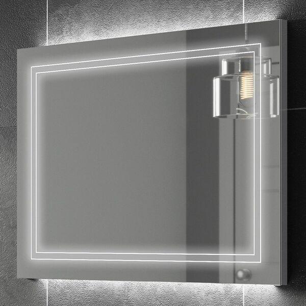 HIB Outline 78759000 600 x 800mm Rectangular Steam Free LED Lit Mirror