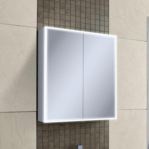 HIB Qubic 46500 700 x 600mm LED Mirrored Cabinet